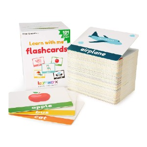 learnworx Flash Cards for Toddlers  - Best Educational Toys for 1-2 Year Olds: Countless ways to play
