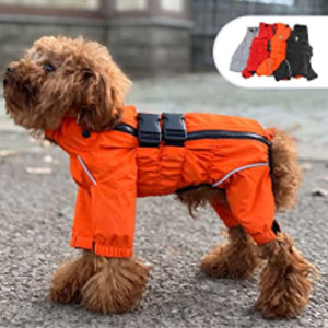 Lovelonglong Store Dogs Waterproof Jacket - Best Raincoats for Dogs: Raincoat with Full Adjustable Design