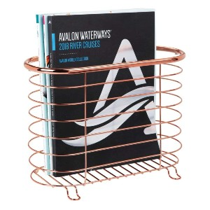 mDesign Decorative Metal Farmhouse Magazine Holder  - Best Magazine Storage: For small space
