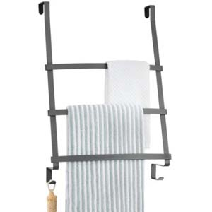mDesign Hanging Towel Rack - Best Bathroom Organizer: Simple and useful