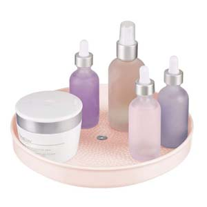 mDesign Rotatable Vanity Tray - Best Bathroom Organizer: Rotatable makeup organizer