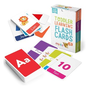 Merka Educational Flashcards for Toddlers  - Best Flashcards for 2 Year Olds: Handle several cards at once