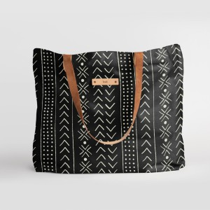 """Minted mud cloth organic  - Best Tote Bags for Travel: Butter-Soft 30"""" Leather Straps"""