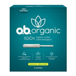 o.b. Organic Tampons  - Best Organic Cotton Tampons: 8 hours protection