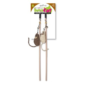 Patchworkpet Natural Wand Mice- Cat Toy - Best Cat Toys Interactive: Excellent Wand with Mouse Character