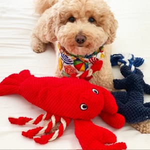 Patchworkpet Lobster - Best Dog Toys to Keep Them Busy: Adorable Lobster Toy