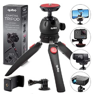 qubo Mini Tripod Camera Holder - Best Mini Tripods for Smartphone: Compatible with most devices