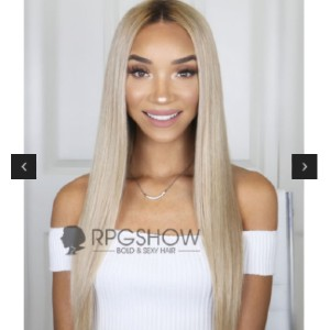 RPG ravenelyse003 - Best Human Hair Wigs for African American: Natural Root with Cream Color