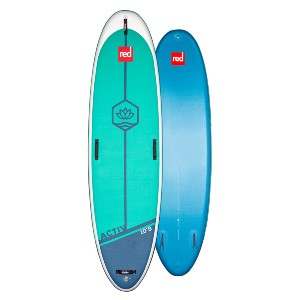 red paddle 10'8″ ACTIV MSL PADDLE BOARD - Best Paddle Boards for Dogs: Comfortable Embossed Deck Pad