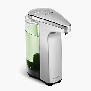 simplehuman 8 oz. Sensor Pump - Best Hand Sanitizer Dispenser: No Germs or Smudges Left Behind