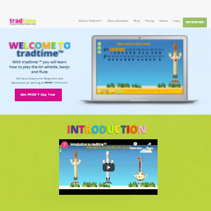 Tradtime Online Tin Whistle - Best Online Tin Whistle Lessons: For Kids Learners