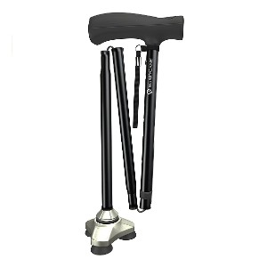 HurryCane HCANE-BK-C2  - Best Cane for Heavy Person: Most adjustable height options
