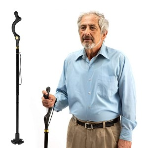 Medical King Walking Cane - Best Cane for Back Pain: Walk straight and upright