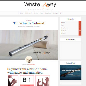 Whistle Away Tin Whistle Tutorial - Best Online Tin Whistle Lessons: Simple Tutorials