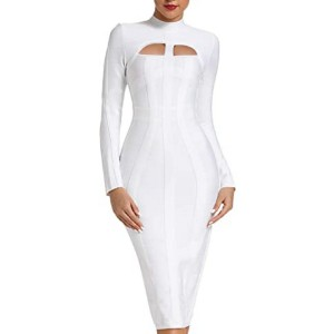 Whoinshop Women's Cut Out Long Sleeve Bandage Dress - Best Bandage Dress: Hugs tighter than your exes