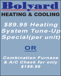 $89.95 Heating System Tune-Up Special (per unit) or  Combination Furnace & A/C Check for only $159.95