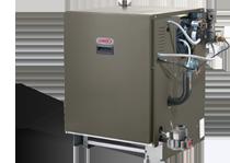 Standard-efficiency, gas-fired water boiler