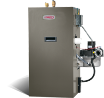 High-efficiency, gas-fired water boiler