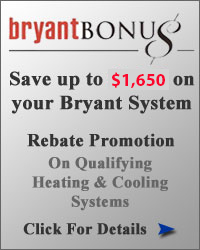 Bryant Bonus Rebates for Spring 2018