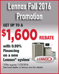 2016 Lennox Fall Promotion