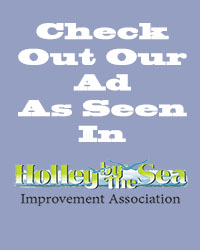 Check our our ad as seen in Holley by the Sea