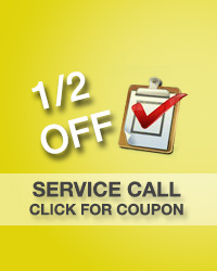 1/2 off service call