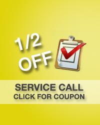 1/2 off service call
