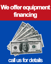 We offer equipment financing, call us for details