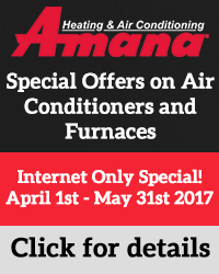 Amana Special Offers on Air Conditioners and Furnaces