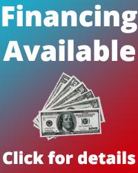 We offer financing, click for details