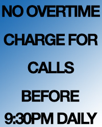No overtime charge
