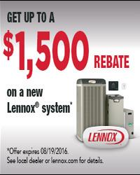 Lennox Rebate Ad