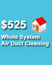 Whole system air duct cleaning