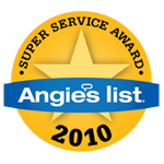 Angie's List Super Service Award Winner 2010