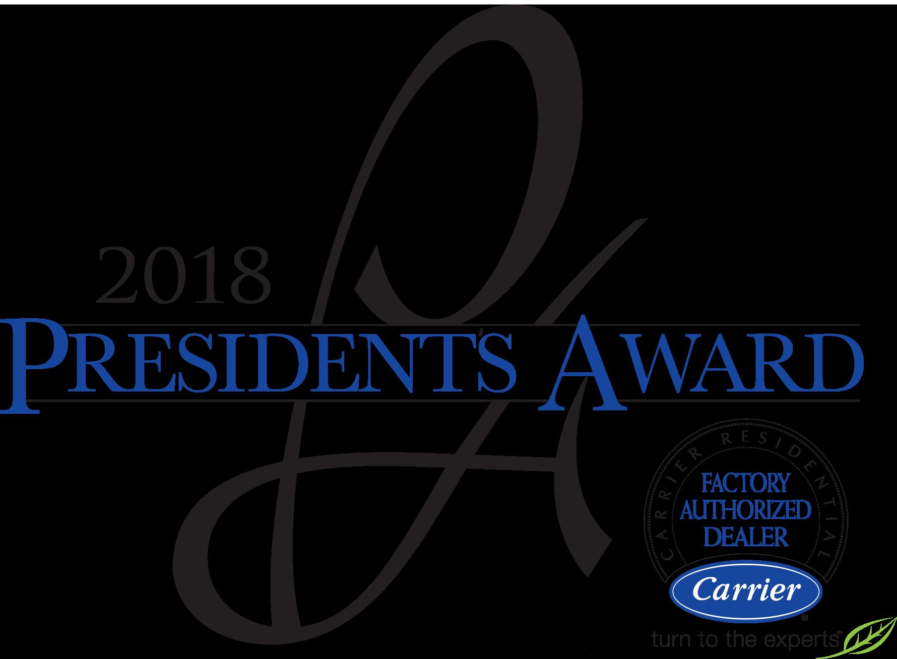 Carrier 2018 President's Award