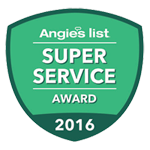 Angie's List - Super Service Award Winner 2009-2016
