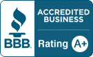 BBB Accredited Business Rating A+ badge