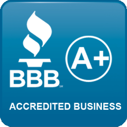 BBB Accredited A+ Business icon