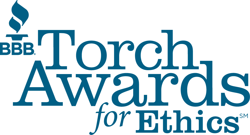 Image of Better Business Bureau's Torch Award logo