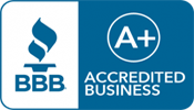 BBB accredited A+ rating badge
