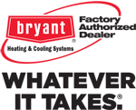 Bryant Factory Authorized Dealer logo