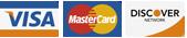 Visa, Mastercard, & Discover Logo