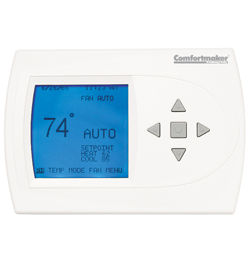 Programmable Thermostat with Humidity Control
