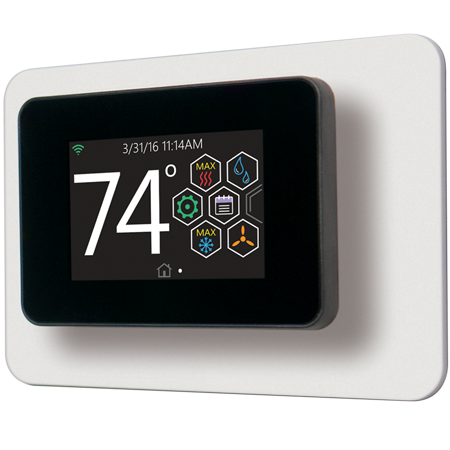 Touch Screen Thermostat with Proprietary* Hexagon Interface