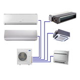 Indoor Infinity® Residential Ductless Multi-Zone Heat Pump System