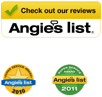 Angie's List Super Service Award Winner 2010, 2011, and 2012