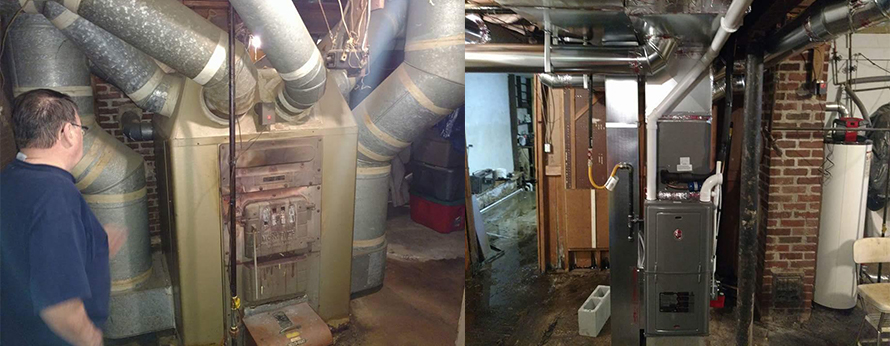 <p>Rheem Heating Installation Before & After</p>