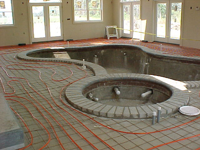 Pool Floor Heat - Residential Installation
