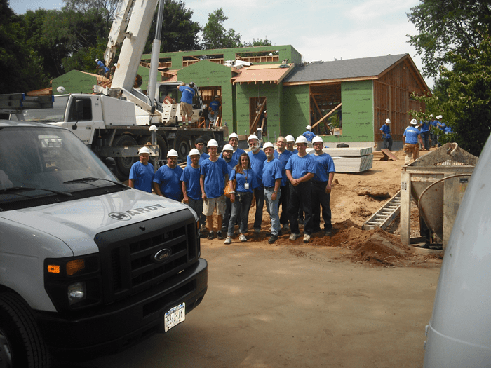 Our team on Extreme Makeover: Home Edition