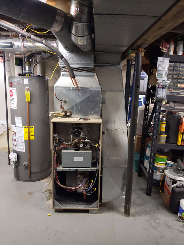 Before Install of Trane Furnace